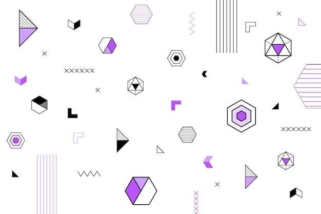 Platte ontwerp geometrische vormen behang