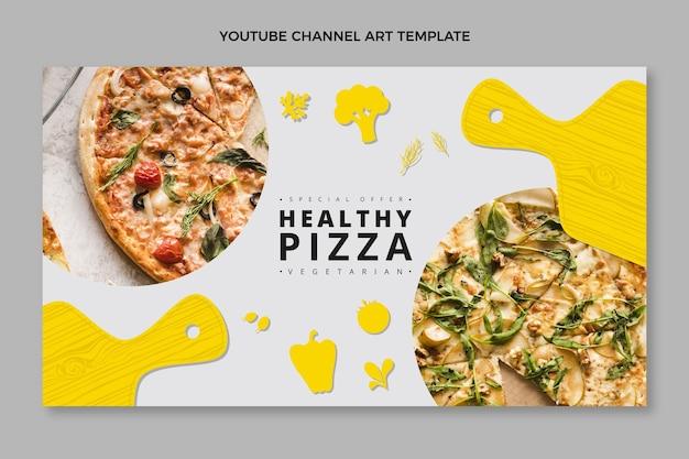 Platte ontwerp gezond pizza youtube-kanaal