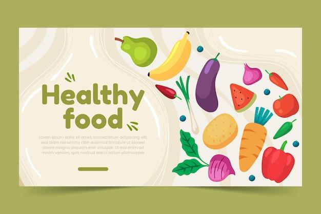 Platte ontwerp gezonde voeding facebook post