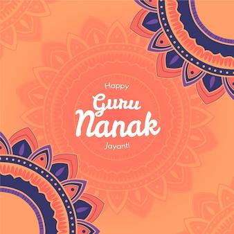 Platte ontwerp goeroe nanak jayanti achtergrond