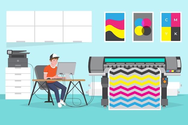 Platte ontwerp grafische industrie