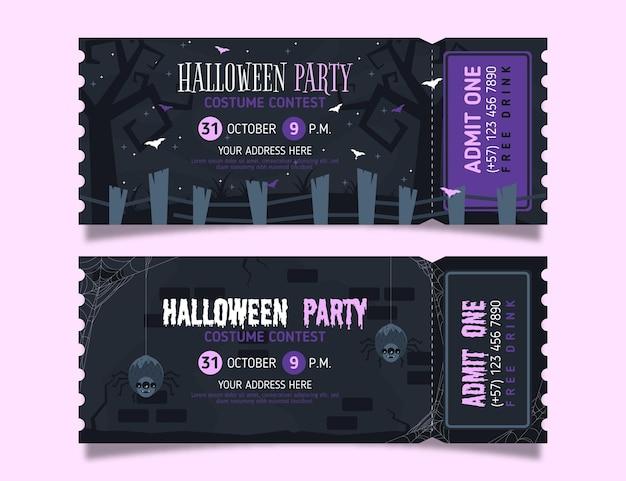 Platte ontwerp halloween kaartjes