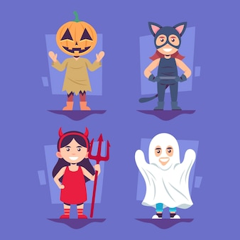 Platte ontwerp halloween kid collectie