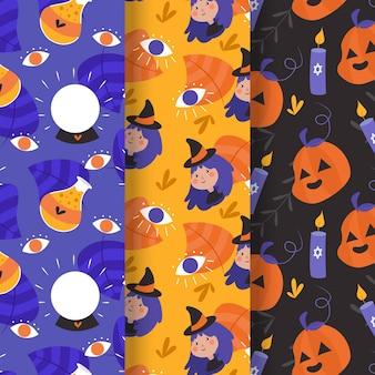 Platte ontwerp halloween patroon