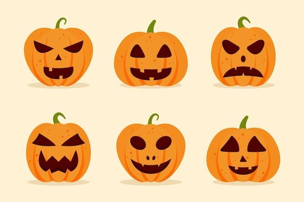 Platte ontwerp halloween pompoen collectie