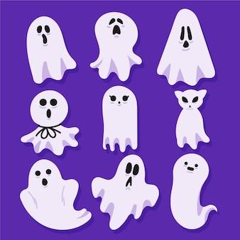 Platte ontwerp halloween spookcollectie