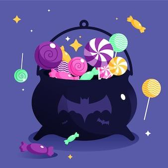 Platte ontwerp halloween tas
