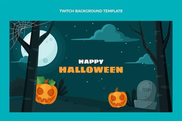 Platte ontwerp halloween twitch achtergrond