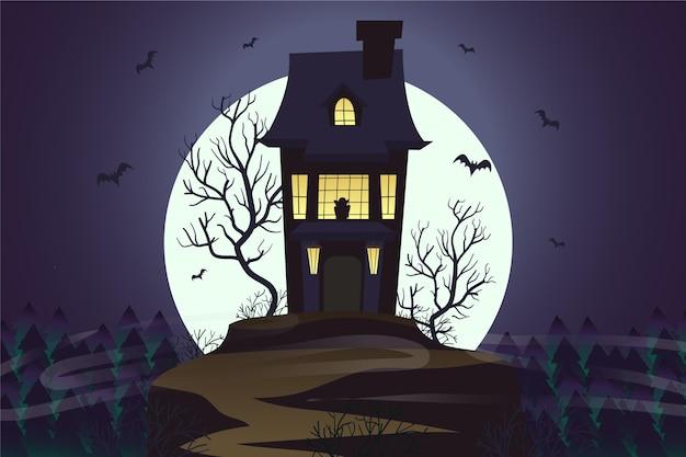 Platte ontwerp halloween wallpaper