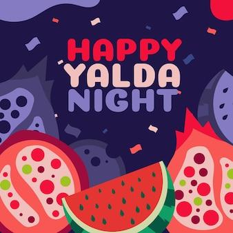 Platte ontwerp happy night yalda achtergrond
