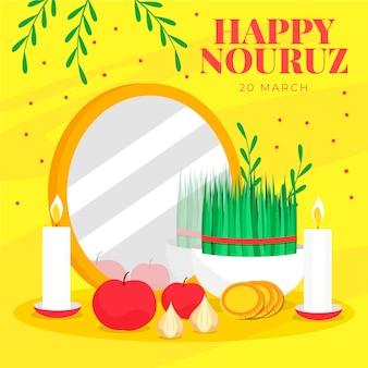 Platte ontwerp happy nowruz vieren