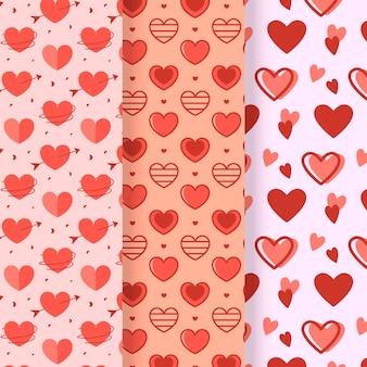 Platte ontwerp hart patroon collectie