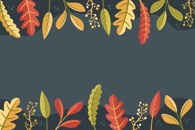 Platte ontwerp herfst achtergrond