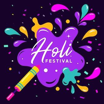 Platte ontwerp holi festival concept