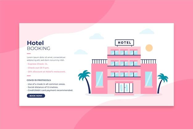 Platte ontwerp hotel sjabloon voor spandoek