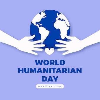 Platte ontwerp humanitaire werelddag