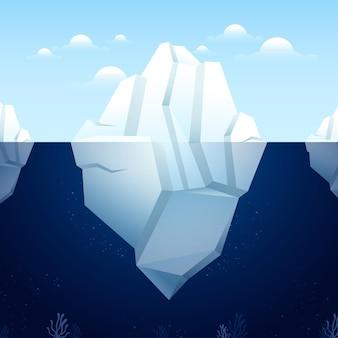 Platte ontwerp ijsberg concept