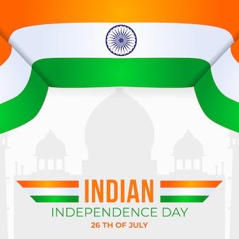 Platte ontwerp indiase republiek dag concept