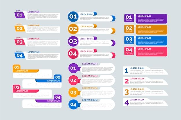 Platte ontwerp infographic elementen