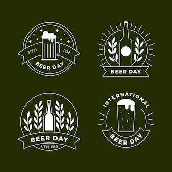 Platte ontwerp internationale bierdag badges