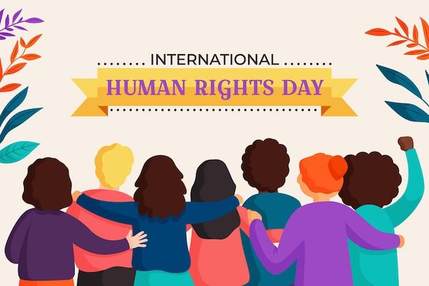 Platte ontwerp internationale dag van de mensenrechten