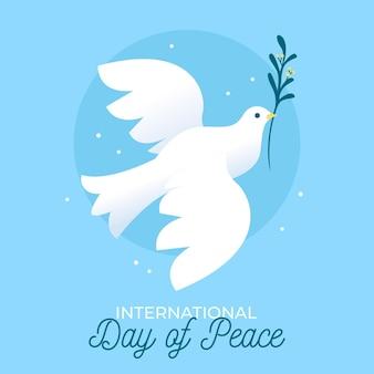 Platte ontwerp internationale dag van de vrede-concept