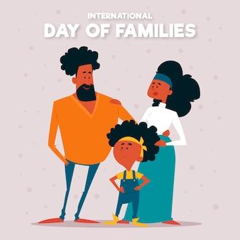 Platte ontwerp internationale dag van families ontwerpen