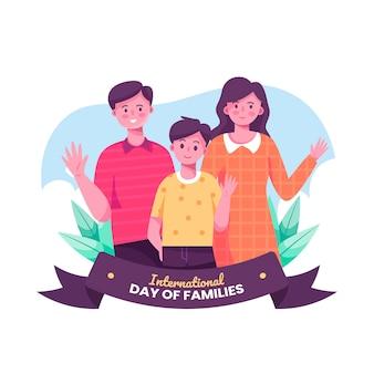 Platte ontwerp internationale dag van gezinnen