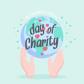 Platte ontwerp internationale dag van liefdadigheidsconcept
