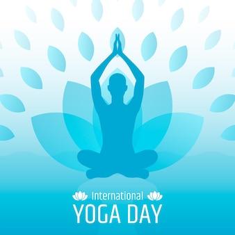 Platte ontwerp internationale dag van yoga