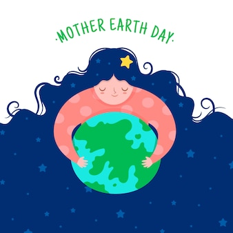 Platte ontwerp internationale moeder aarde dag ontwerp