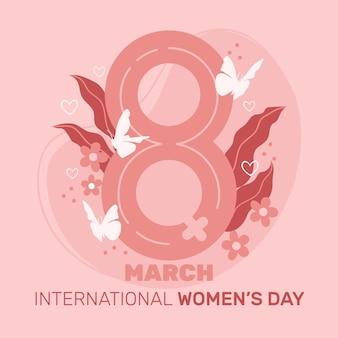 Platte ontwerp internationale vrouwendag illustratie Premium Vector