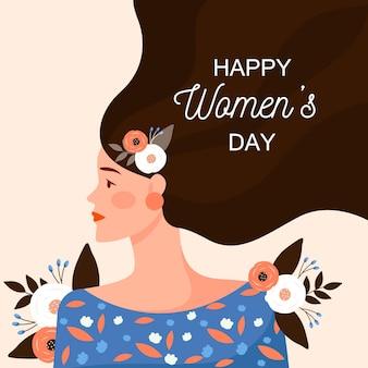 Platte ontwerp internationale vrouwendag