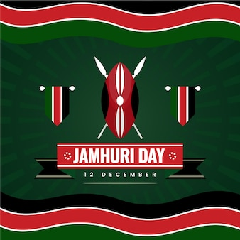 Platte ontwerp jamhuri-dag