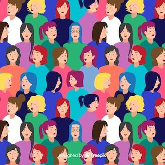Platte ontwerp jeugd mensen patroon