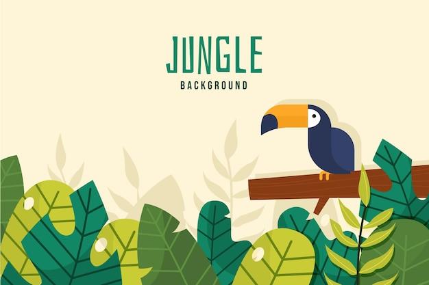 Platte ontwerp jungle achtergrond