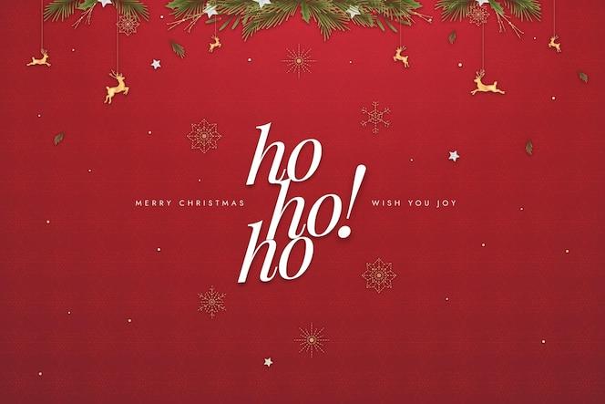 Platte ontwerp kerst achtergrond