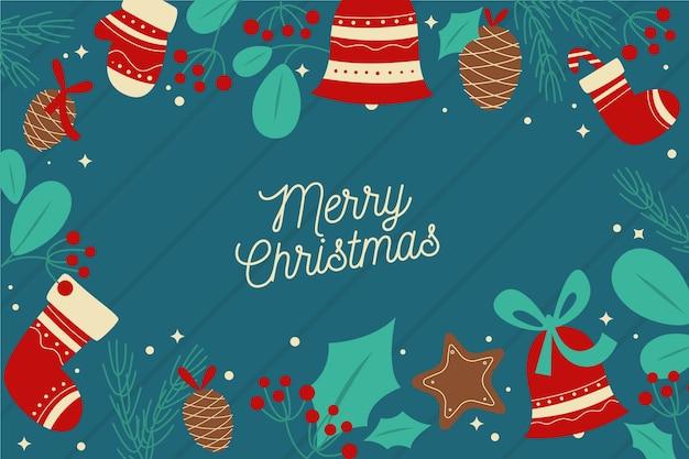 Platte ontwerp kerst behang