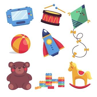 Platte ontwerp kerst speelgoedcollectie