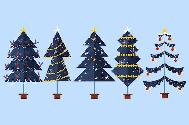 Platte ontwerp kerstbomen collectie