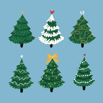 Platte ontwerp kerstboom collectie