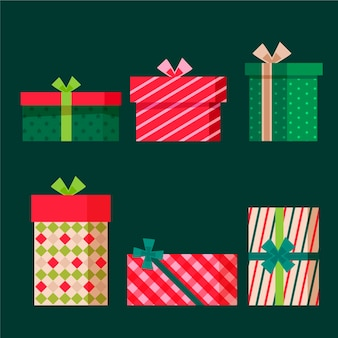 Platte ontwerp kerstcadeauset