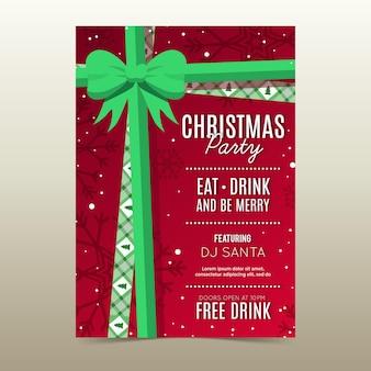 Platte ontwerp kerstfeest poster