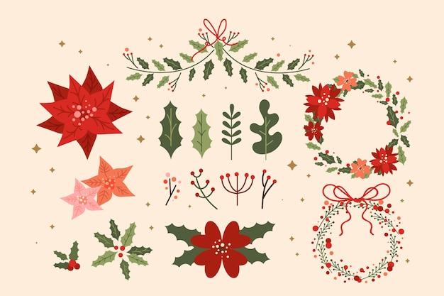 Platte ontwerp kerstkrans collectie
