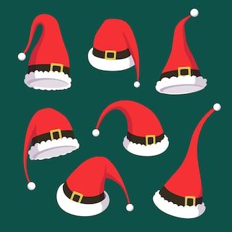 Platte ontwerp kerstman hoed collectie