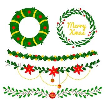 Platte ontwerp kerstversiering collectie