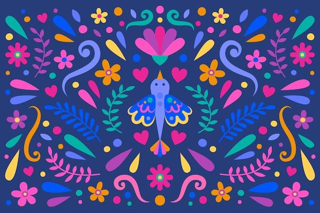 Platte ontwerp kleurrijke mexicaanse achtergrond