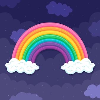 Platte ontwerp kleurrijke regenboog