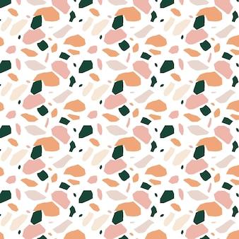 Platte ontwerp kleurrijke terrazzo patroon