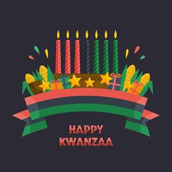 Platte ontwerp kwanzaa concept
